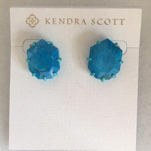 NEW Kendra Scott turquoise Morgan earrings